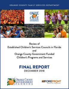Review of Established Children's Services Councils in Florida and Orange County Government Funded Children's Programs and Services
